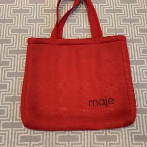 Maje perforated tote bag